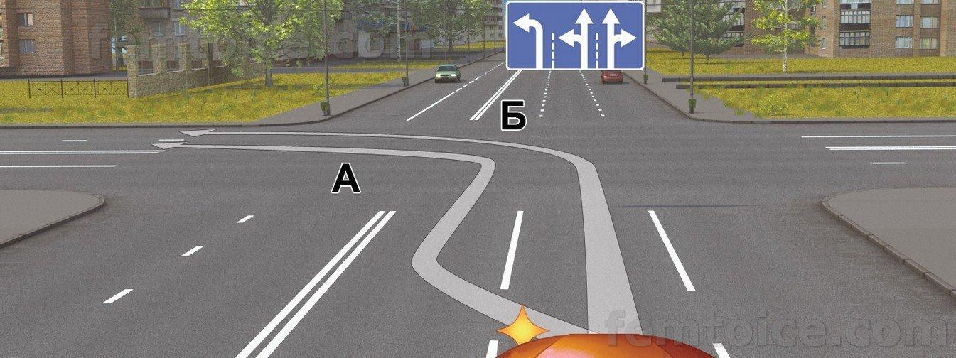 Разметка поворот налево фото